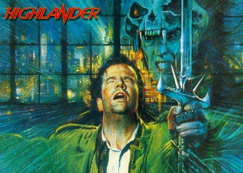 1980's Movie - HIGHLANDER PAINT ART LANDSCAPE canvas print - self adhesive poster - photo print
